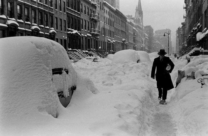 New York City blizzard in marzo.