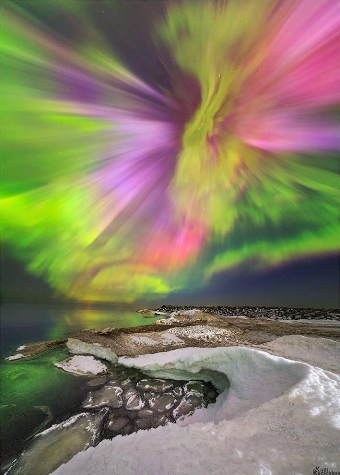 Spettacolari aurore boreali sui cieli settentrionali europei ricerca