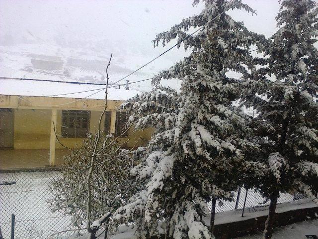 Il a neigé en Algérie, de givre sur les montagnes du Sahara! 26-mar-15-Afra1