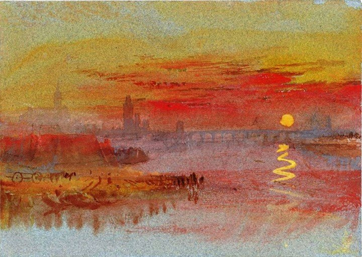 William Turner The Scarlet Sunset 1830