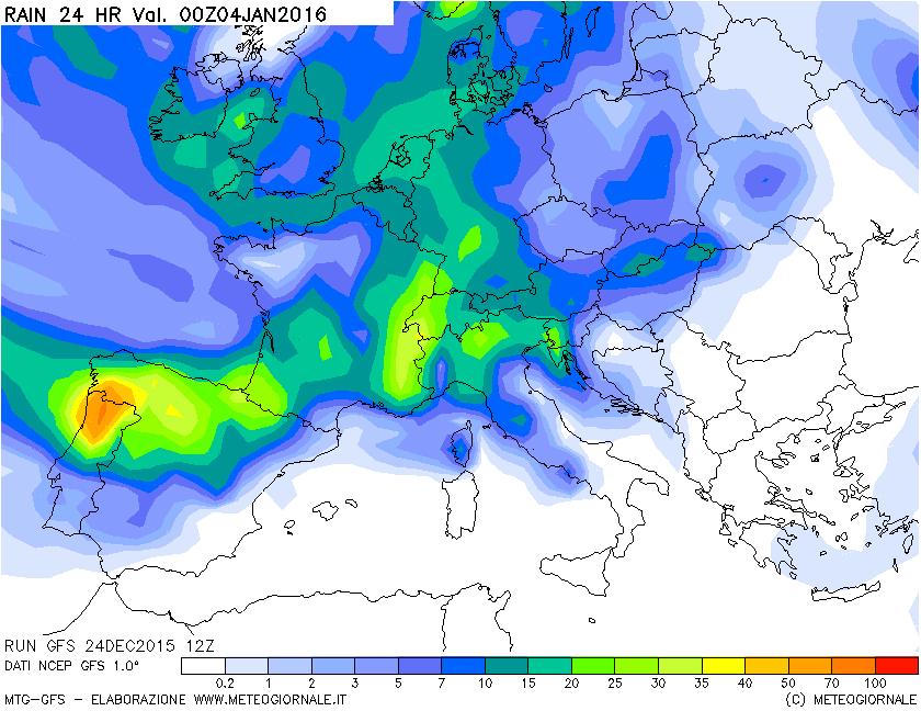 Da notare l'arrivo di precipitazioni durante l'ondata di gelo e dopo. Al Nord Italia potrebbe nevicare vari giorni.