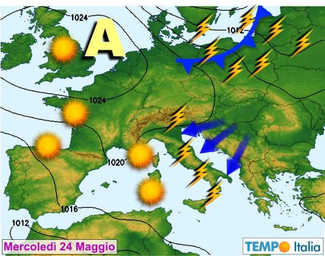 Meteo - Inizio settimana con tempo stabile e temperature in aumento